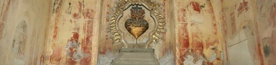 Az Alsó templom 4. számú kápolnájában a Jézus Szentséges Szíve oltár restaurálása