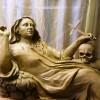 Mária Magdolna szobrának restaurálása a Fájdalmas Szívű Szűzanya kápolnából